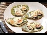 Huaraches de nopal con higo y queso Oaxaca - Recetas de cocina mexicana - Recetas de desayunos