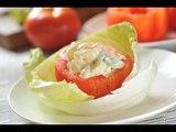 Jitomates rellenos de verduras - Recetas de cocina fácil - Stuffed tomatoes
