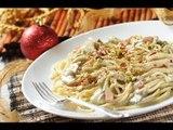 Espagueti con pistaches - Spaghetti and pistachio - Recetas de navidad - Pasta