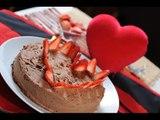 Pastel de chocolate - Recetas de pastel para San Valentín - Valentine´s Chocolate cake recipe