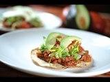 Tostadas de picadillo - Recetas de cocina mexicana - Como cocinar - Mexican tostada recipe