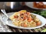 Espagueti con atún a la veracruzana - Recetas de Cuaresma - Spahgetti and tuna - Como cocinar