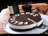 Cheesecake de Oreo sin horno - Pay de Oreo - Unbaked Oreo Cheesecake -Recetas de postres fáciles
