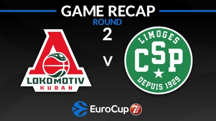 7Days EuroCup Highlights Regular Season, Round 2: Lokomotiv 82-64 Limoges