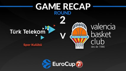 7Days EuroCup Highlights Regular Season, Round 2: Turk Telekom 67-72 Valencia