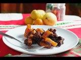 Compota navideña de frutos secos y piña