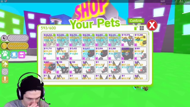 New I Got 10 Of The Rarest Robux Hats In Pet Simulator Update