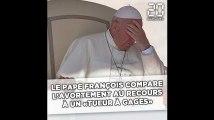 Le pape François compare l'avortement au recours à un «tueur à gages»