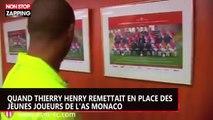 Quand Thierry Henry remettait en place des jeunes joueurs de l'AS Monaco (vidéo)