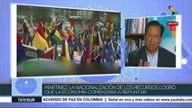 Martínez: Nacionalización de recursos, clave en la economía boliviana