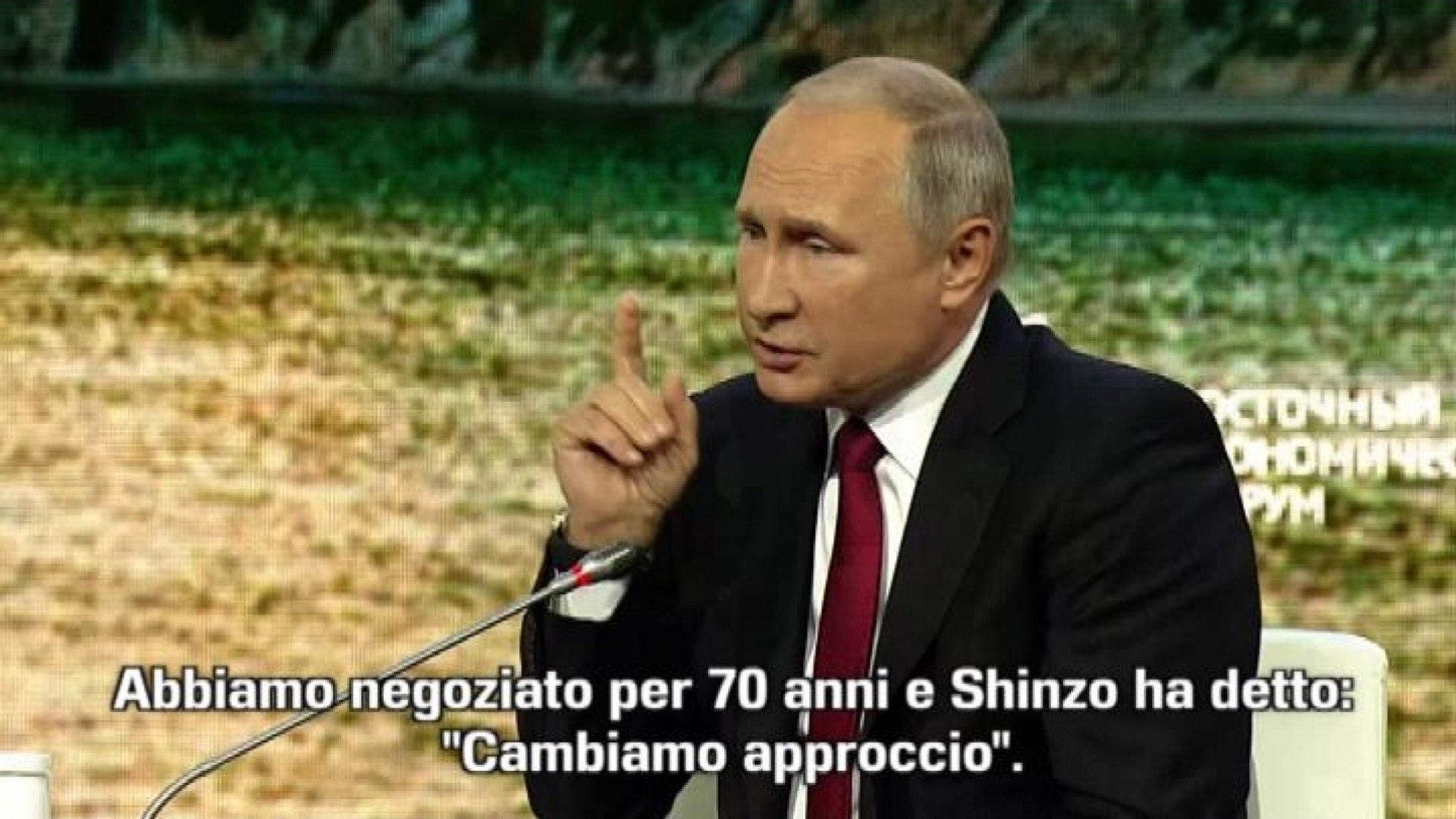 Putin propone a Giappone accordo pace senza condizioni entro 2018