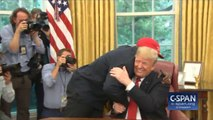 President Trump Hugs Kanye West At The White House
