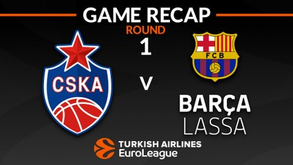 EuroLeague 2018-19 Highlights Regular Season Round 1 video: CSKA 95-75 Barcelona