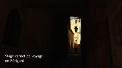 Stage de dessin carnet de voyage en Périgord