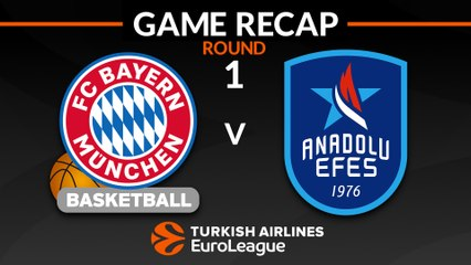EuroLeague 2018-19 Highlights Regular Season Round 1 video: Bayern 71-90 Anadolu Efes