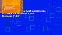Collection Book Mathematical Statistics for Economics and
