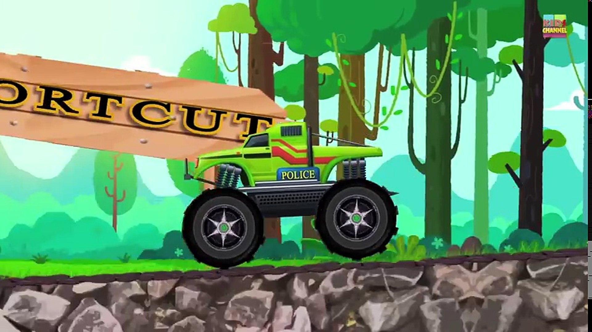 Tv cartoons movies 2019 evil monster truck for kids   kids videos   kids channel