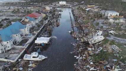 Dronebeelden van schade orkaan Michael