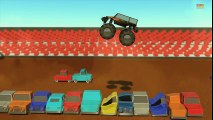 Tv cartoons movies 2019 Monster truck   Wheels on the monster trucks go round and round   Nursery rhymes