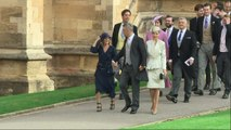 Robbie Williams and wife Ayda Field arrive for royal wedding