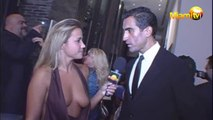Ruben Campbell Interviewed by a beautiful woman at The Setai Hotel, Miami Beach, Florida