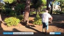 Sainte-Maxime : nettoyage après les inondations