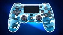 Nouvelle Manette PS4 : Blue Camouflage DUALSHOCK 4 Bande Annonce
