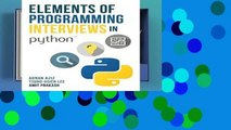 Popular Elements of Programming Interviews in Python: The Insiders  Guide