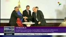 Venezuela: gobierno firma precios acordados de medicamentos