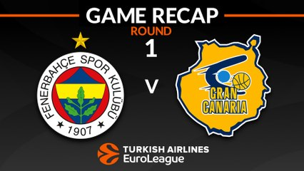 EuroLeague 2018-19 Highlights Regular Season Round 1 video: Fenerbahce 97-72 Gran Canaria
