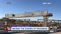 Behind the scenes look at South Mountain Freeway progress