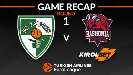 EuroLeague 2018-19 Highlights Regular Season Round 1 video: Zalgiris 79-87 Baskonia
