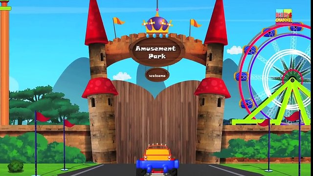 Tv cartoons movies 2019 Monster Truck Tour To Amusement Park   The Day at Amusement Park   Baby videos
