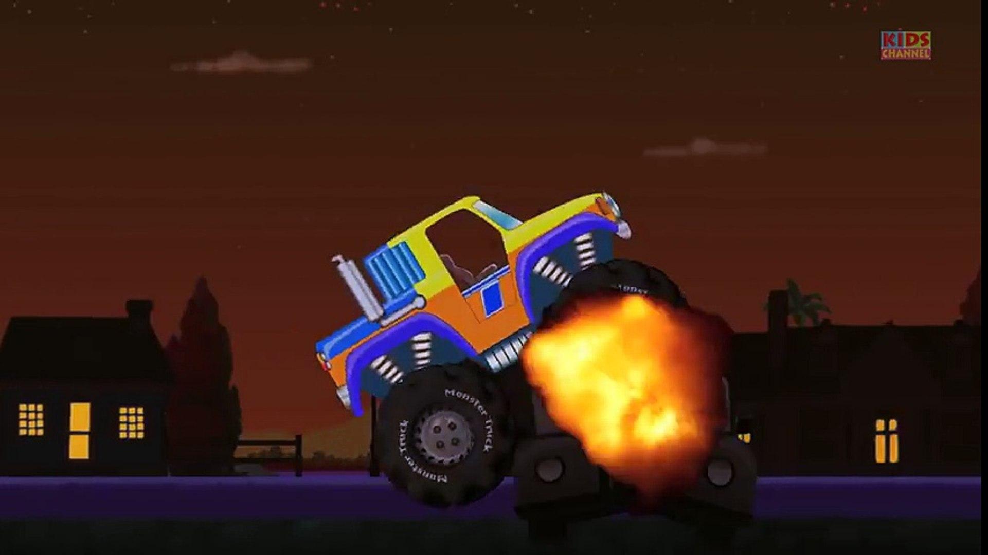 Tv cartoons movies 2019 Monster Truck Stunts   Monster Truck Action (3)