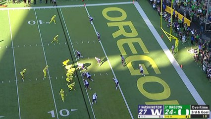CJ Verdell's Overtime Touchdown Seals No. 17 Oregon's Win Over No. 7 Washington