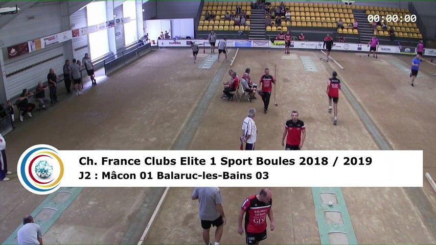 Premier tour, tir rapide en double, France Club Elite 1, J2, Mâcon contre Balaruc-les-Bains,  saison 2018/2019
