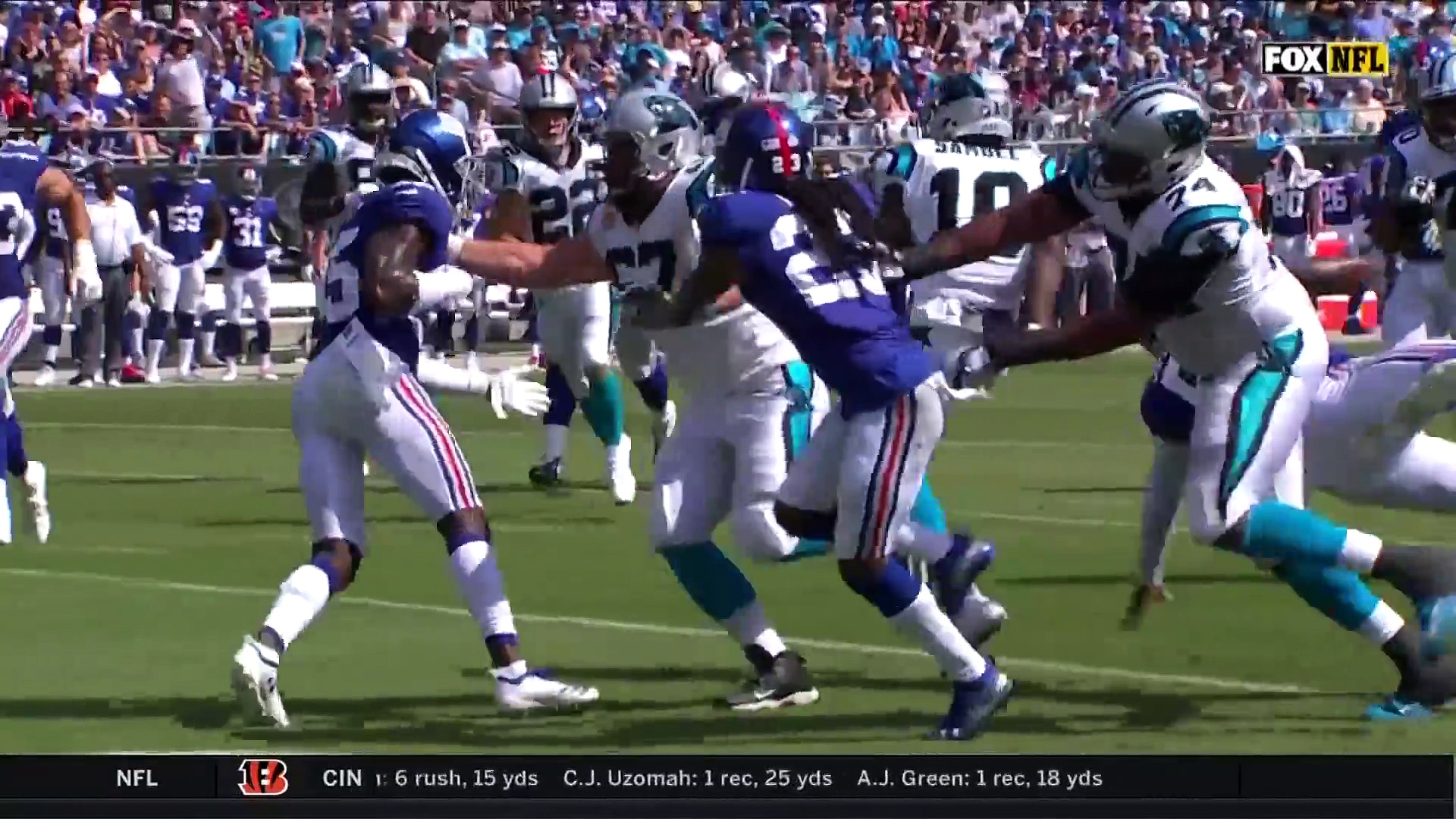 Giants vs. Panthers Week 5 Highlights – NFL 2018