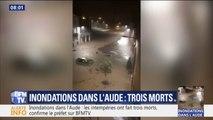 Des rues transformées en torrents... Les images des inondations dans l'Aude