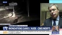 """Inondations dans l'Aude: le préfet alerte """"Il ne faut pas sortir des maisons"""""""