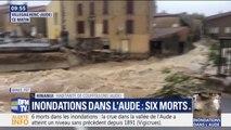 """Inondations dans l'Aude: une habitante de Couffoulens témoigne, """"on s'est réfugiés à l'étage, l'eau est monté jusqu'à 2m50 de haut"""""""