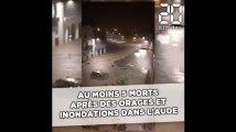 Au moins 6 morts après des orages et inondations dans l'Aude
