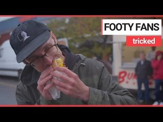 Football fans fooled into eating meat-free burgers | SWNS TV