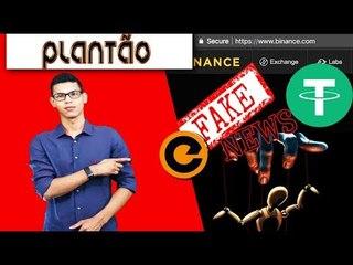 PUMP NO MERCADO DE CRIPTMOEDAS: Manipulação, Fake News Binance Delista Tether (USDT) #NoticiaFalsa