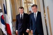 Conférence de presse conjointe du Président de la République, Emmanuel Macron et de Moon Jae-in, Président de la République de Corée