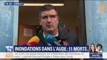 """Inondations dans l'Aude: le maire de Trèbes évoque un bilan d'""""au moins 6 morts"""" dans la commune"""