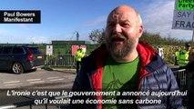 Royaume-Uni: manifestation contre le gaz de schiste