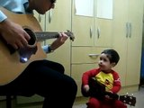 2-year old impresses with his singing