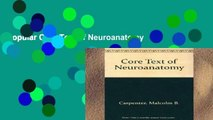 Popular Core Text of Neuroanatomy