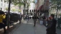 Kim Kardashian y Kanye West precipitada huida a Los Angeles