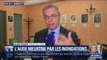 """Inondations dans l'Aude: le préfet confirme que 3 personnes sont encore """"portées disparues"""""""